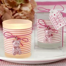 200 Pink Teddy Bear Themed Frosted Glass Votives - $404.38