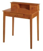 Classic Writing Desk Small Home Office Wooden Table Furniture With Three... - $218.80