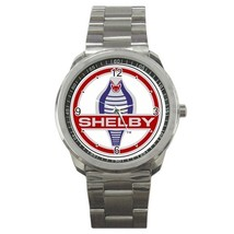 Ford Mustang Shelby logo Custom Sport Metal Men Watch  - $15.00