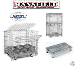 Nexel Wire Basket Folding Storage Container Bins FWC146 Mansfieldfw - $175.00
