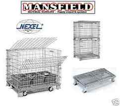 Nexel Wire Basket Folding Storage Container Bins FWC160 Mansfieldfw - $235.00