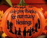"""Give thanks"" Pumpkin Blessings Thanksgiving harvest Fall Autumn Home decor"