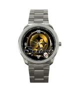 NFL Pittsburgh Steelers Logo Custom Sport Metal Men Watch  - $15.00