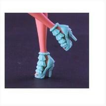 1//6 Barbie Doll Similar Lavender Light Purple Floral Peep toe Hi Heels Shoes