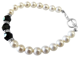 Wedding Gift Jewelry Bridesmaid Shower w/ Silver Rondells Bracelet - $28.98