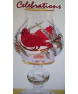 HOLIDAY CARDINAL HURRICANE HAND PAINTED GLASS B... - $20.00