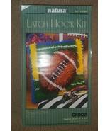 """Natura Latch Hook Rug Kit ~ Touchdown / Football 12"""" x 12"""" ~ Craft Art ~... - $8.90"""