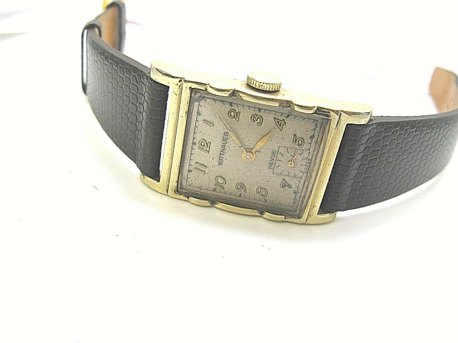 WITTNAUER LONGINE VINTAGE WATCH REVUE 1950'S 10K GF serviced image 2