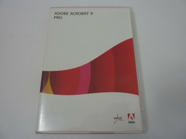 Adobe Acrobat 9 PRO Professional Software for Windows with Serial Number - $148.45