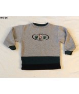Healtex Size 5 Gray and Green Wolf Design Long Sleeve Pullover Shirt - $7.99