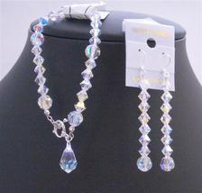 Bridesmaid AB Crystal Teardrop Swarovski AB Crystals Bracelet Earrings - $44.58
