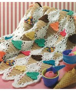 RARE~ICE CREAM CONE AFGHAN CROCHET PATTERN - £19.32 GBP