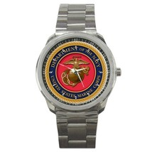 USMC Navy Seal Logo Custom Sport Metal Men Watch  - $15.00