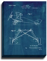 Aircraft Landing Gear Patent Print Midnight Blue on Canvas - $39.95+