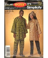 Uncut Size XS to XL African American Top Pants Wrap Simplicity 5152 Pattern - $8.99