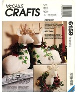 Gooseberry Hill Christmas Decorations Deer Reindeer McCalls 6159 Pattern - $8.99