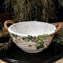"""Vintage SHAFFORD Berry Time GRAND BASKET Fruit Bowl Centerpiece 16"""" JAPAN  - $99.95"""
