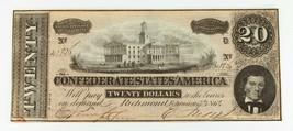 1864 $20 Confederate Note in XF Condition T-67 - $74.25