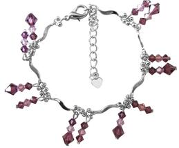 Amethyst Swarovski Crystals light & dark mix match dangling - $21.85
