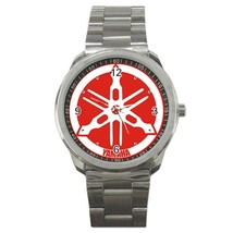 Yamaha Motocycle Logo Custom Sport Metal Men Watch  - $15.00