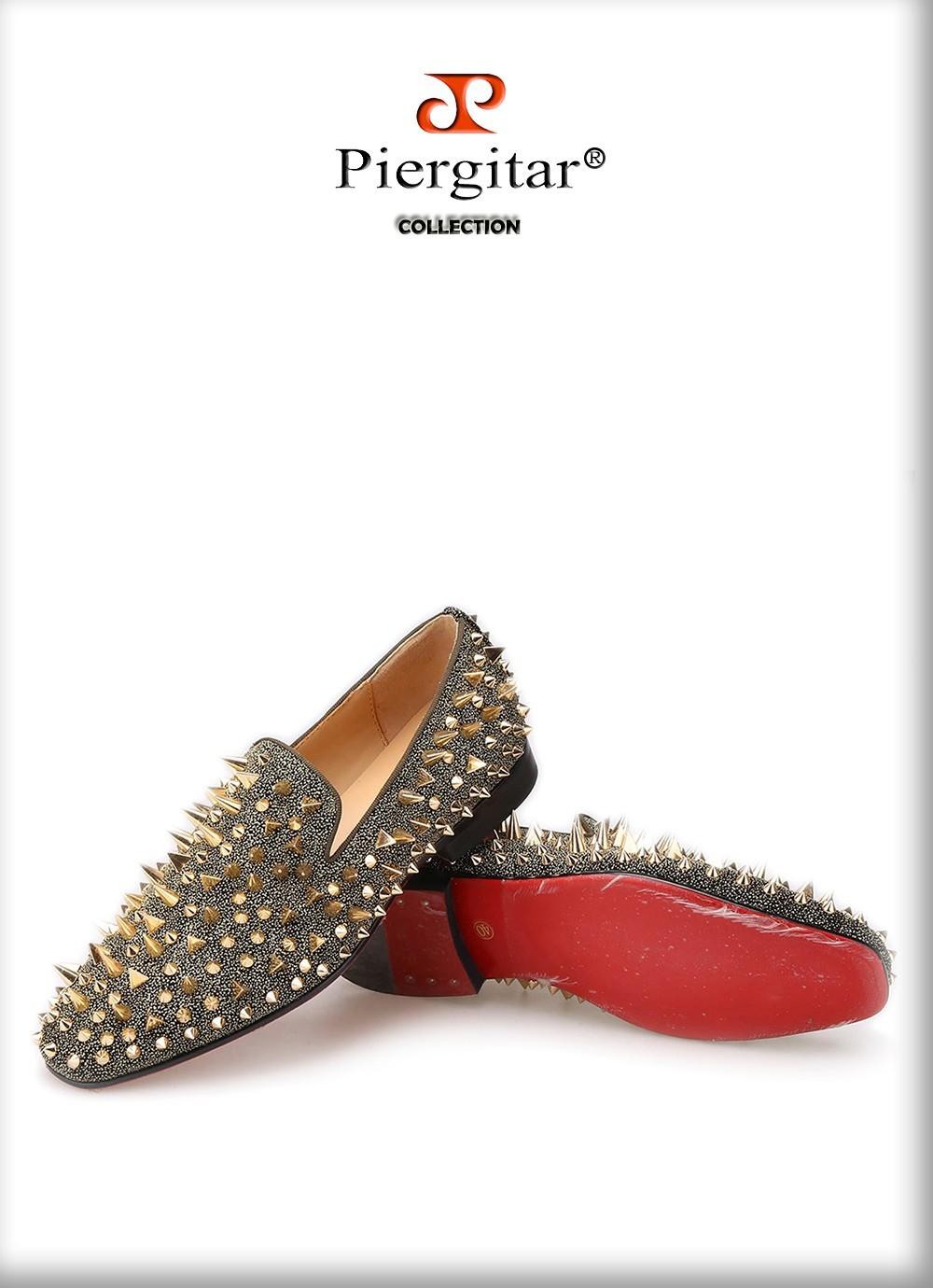 Piergitar gold spiked shoe 4