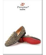 Exclusive Handmade Piergitar Gold Rivets Men's Red Bottom Luxury Fashio... - $259.00