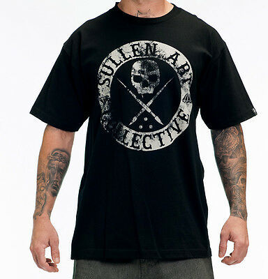 AUTHENTIC SULLEN CLOTHING BADGE OF HONOR PUNK GOTH INK TATTOO BLACK SHIRT S-5XL