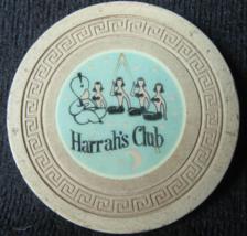 "Rare 1956 Overstamp Roulette Chip: ""Harrah's Club of Reno & Tahoe""- (sku... - $29.99"
