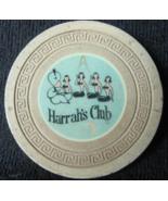 "Rare 1956 Overstamp Roulette Chip: ""Harrah's Club of Reno & Tahoe""- (sku... - $25.88"