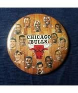 "1991 Chicago Bulls NBA Champs Team Photo Button 3 1/2"" Pin Michael Jorda... - $11.64"