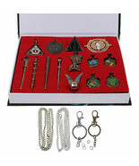 Harry Potter Magical Wands Ring Necklace Pin Xmas Gift Cosplay 15 Piece ... - $18.92