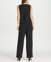 DKNY Chiffon Overlay Jumpsuit Black Size 8 $129 image 2