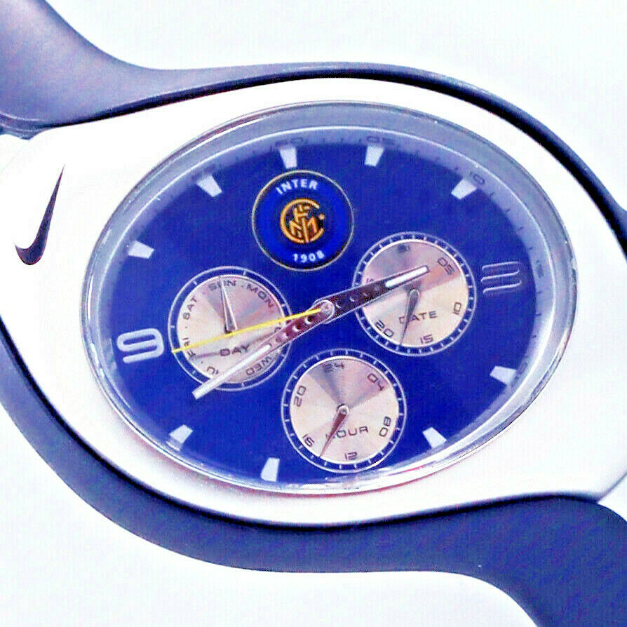 Primary image for Nike Triax Swift, Inter Milan Home, 3-Eye Day Date 24 Hour Dial, New WR0091 $149
