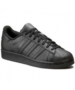 Adidas Originals Superstar Foundation All Black AF5666 Leather Men Shoes - $74.95