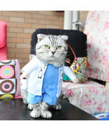 Funny Pet Costume Dog Cat Clothes Dress Apparel Doctor - $12.82 CAD+