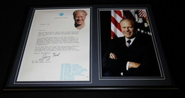 Gerald Ford 12x18 Facsimile Signed Framed 1983 Letter to Bob Hope & Phot... - $79.19