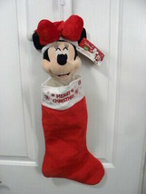 """Gemmy Animated Musical Singing Minnie Mouse Christmas Stocking """"Deck the... - $17.99"""