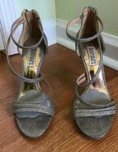 Badgley Mischka Silver Landmark Dress Sandal 7.5 M silver? platino? wedding - $32.69