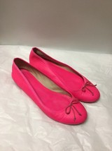 Hot Pink Leather J Crew Flats Size 8 - $12.86