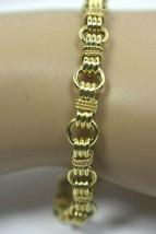 "TIFFANY & Co Estate Bracelet 14K Yellow Gold Circle Link 7"" Heavy 11.5g ... - $2,158.25"