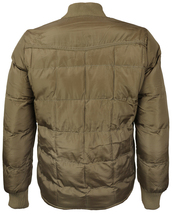 vkwear Men's Quilted Padded Insulated Heavyweight Puffer Bomber Jacket VAQ image 9