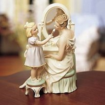 Lenox Mother's Makeup Artist Figurine Mother Daughter Vanity Mirror Blon... - $84.98