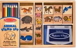 Animal Stamp Set Washable Non Toxic Kid Friendly Ink Kids 4 Years Up BRA... - $29.75