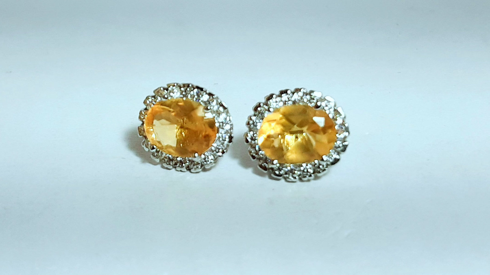 925 Sterling Silver Natural A+ Quality Citrine And Cz Gemstone Handcrafted Desig image 3