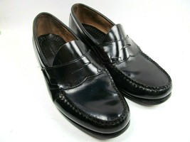 23c554ae816 Bass Weejuns Mens Black Leather Moc Toe Penny Loafers Size US 9 EE - £22.26