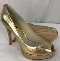 Michael Kors York women's platform fashion slip on peep toe pumps heels ... - $46.38