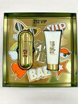 212 Vip By Carolina Herrera 2 Piece Set-2.7 Oz Eau De Parfum Spray, 3.4 Oz B/L W - $69.99