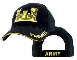 US ARMY ENGINEER - U.S. Army Engineer Black and Gold Military Baseball C... - $23.95