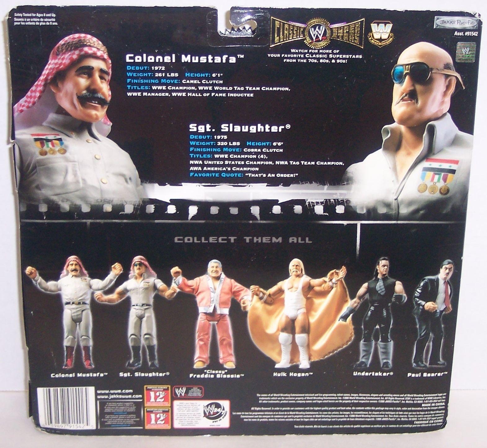 "2005 Classic Superstars ""Mustafa vs Sgt. Slaughter"" Action Figure Set WWF [1445]"
