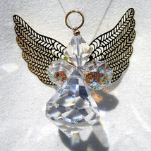 Crystal Angel with Gold Wings image 3